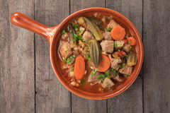 Pork and okra gumbo Royalty Free Stock Images