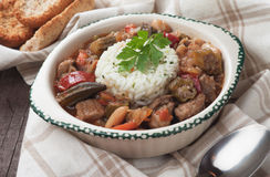 Pork and okra gumbo Stock Image