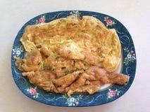 Pork omelet Royalty Free Stock Photo