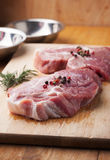 Pork with pepper prepare for grill Royalty Free Stock Image