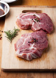 Pork with pepper prepare for grill Royalty Free Stock Photos