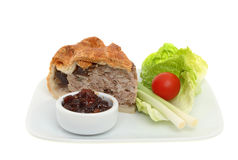 Pork Pie And Salad Royalty Free Stock Photo
