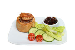 Pork Pie And Salad Stock Image