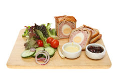 Pork Pie And Salad Stock Photo