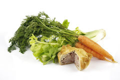 Pork Pie with Carrots and Celery Royalty Free Stock Image