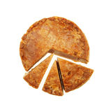 Pork pie chart. Pork pie cut to illustrate a pie chart Stock Photography