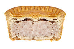 Pork Pie Half Stock Photo
