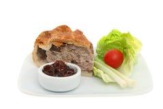 Pork pie and salad Royalty Free Stock Photo