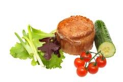Pork pie and salad Stock Image