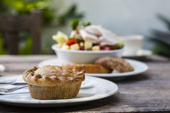 Pork Pie and Salad Royalty Free Stock Image