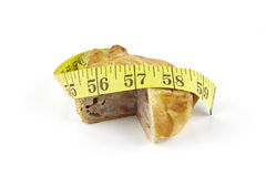 Pork Pie and Tape Measure Royalty Free Stock Photo