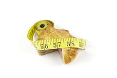 Pork Pie and Tape Measure Royalty Free Stock Images