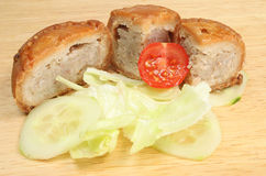Pork Pie With Salad Royalty Free Stock Images