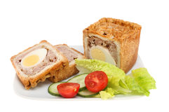Pork Pie With Salad Royalty Free Stock Image