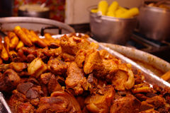 Free Pork Pieces Fried On Oil, Traditional Plate Of Ecuador. Royalty Free Stock Images - 70471729