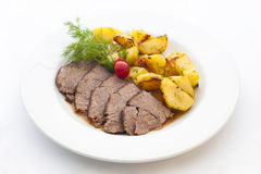 Pork with poatoes Royalty Free Stock Photo