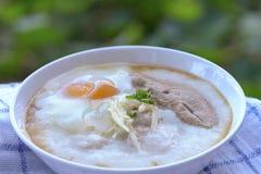 Pork porridge Egg Stock Photography