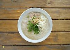 Pork porridge with ginger and Stock Photos