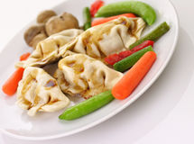 Pork pot stickers Stock Photography