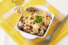 Pork and potato casserole Stock Photo