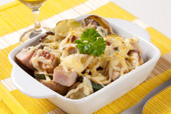 Pork and potato casserole Stock Photos