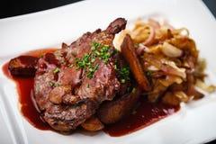 Pork with potato Stock Photography