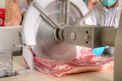 Pork processing meat food industry Royalty Free Stock Images