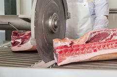 Pork processing meat food industry Royalty Free Stock Image