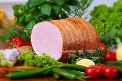 Pork products. Photo of the polish ham Royalty Free Stock Photos