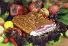 Pork products. Photo of the polish ham Stock Photos