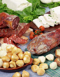 Pork products with cheese Royalty Free Stock Image