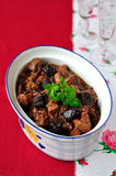 Pork, Prune and Port Ragout Stock Images