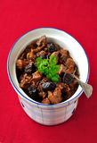 Pork, Prune and Port Ragout Stock Photos