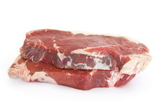 Pork. Raw steak Royalty Free Stock Images