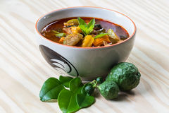 The pork red curry, delicious thai food Stock Images