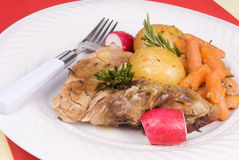 Pork rib dinner with vegetables Royalty Free Stock Photography