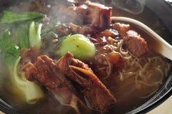 Pork rib noodle Stock Image