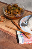 Pork Rib and rice with spicy curry Stock Images