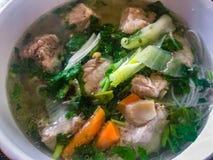 Pork rib soup with vermicelli, Vietnamese dish stock image