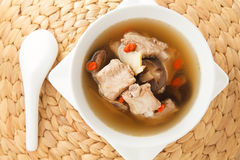 Pork ribs clear soup Royalty Free Stock Photography