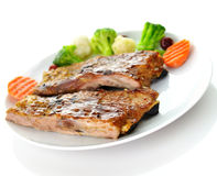 Pork ribs dinner Stock Image