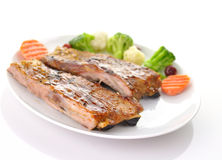 Pork ribs dinner Royalty Free Stock Photo