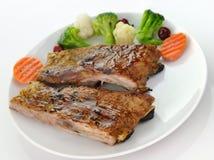 Pork ribs dinner Stock Images