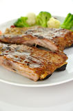 Pork ribs dinner Royalty Free Stock Images