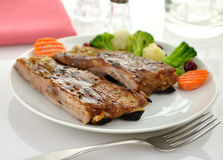 Pork ribs dinner Royalty Free Stock Photography
