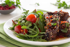 Pork ribs in ginger glaze Stock Photography