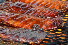 Pork Ribs on the Grill Royalty Free Stock Photo