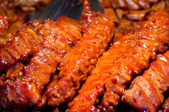 Pork ribs with honey Royalty Free Stock Photography
