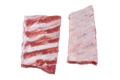 Pork ribs isolated on white Royalty Free Stock Photos