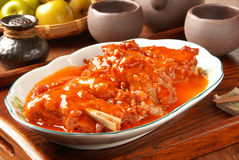 Pork ribs with orange sauce Stock Image